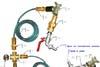 Система водоснабжения при помощи бытового вибронасоса и прибора автоматики КИВ ВиСтан