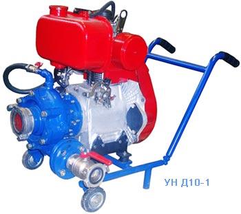 Установка насосная типа УН с приводом от двигателя внутреннего сгорания