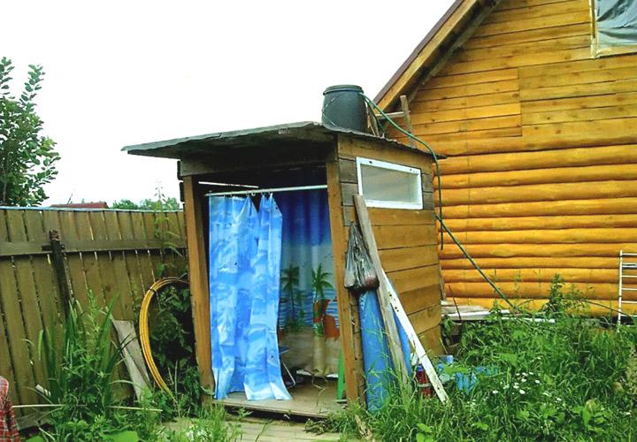 Летний душ баня