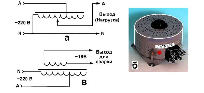 аппарат для сварки скруток проводов - Схема ЛАТР-1,25